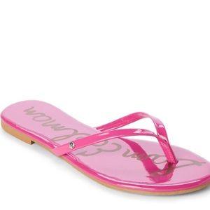 Sam Edelman Hot Pink Oliver Flip Flops